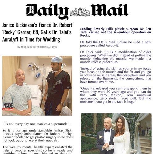 Peter Schwartz Daily Mail AuraLift for Gerner