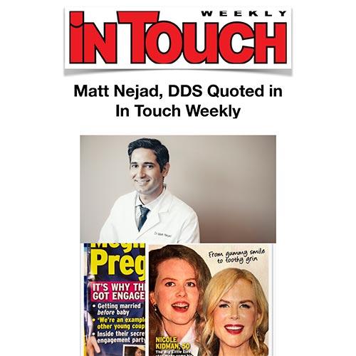 Peter Schwartz Nejad in In Touch