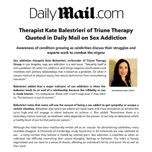 Kate Balestrieri Consulted by Daily Mail