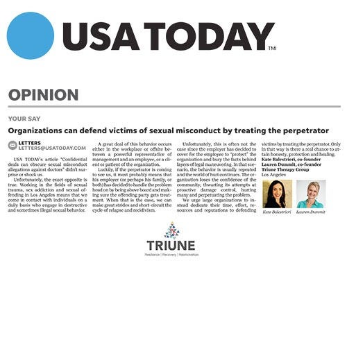 Triune in USA Today
