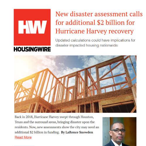 New disaster assessment callsfor additional $2 billion forHurricane Harvey recovery