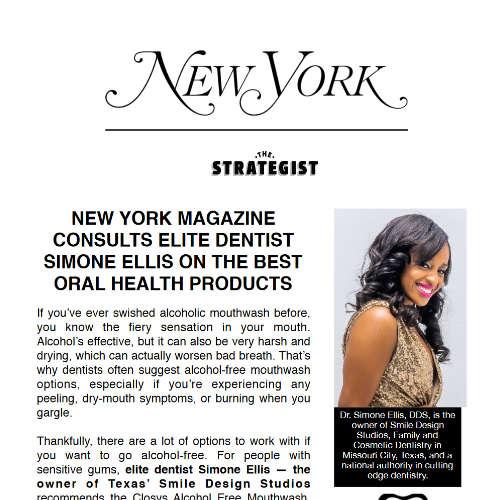 NEW YORK MAGAZINECONSULTS ELITE DENTISTSIMONE ELLIS ON THE BESTORAL HEALTH PRODUCTS