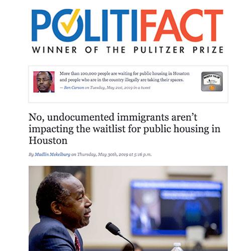 Politifact article screenshot