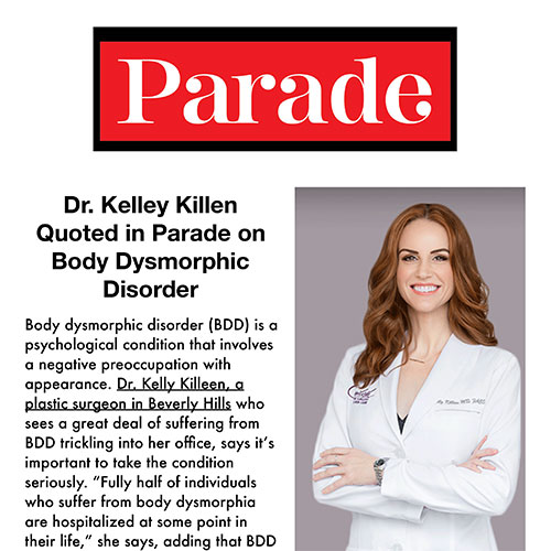 Dr. Kelley Killen Quoted in Parade on Body Dysmorphic Disorder
