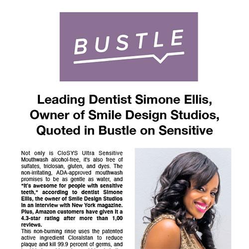 Leading Dentist Simone Ellis, Owner of Smile Design Studios, Quoted in Bustle on Sensitive