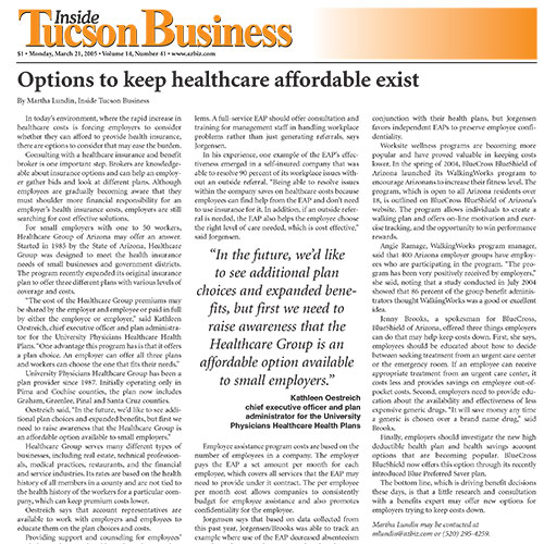 Options to keep healthcare affordable exist