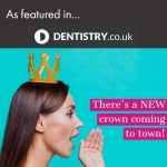 An ad showing a young girl talking about a new dentist