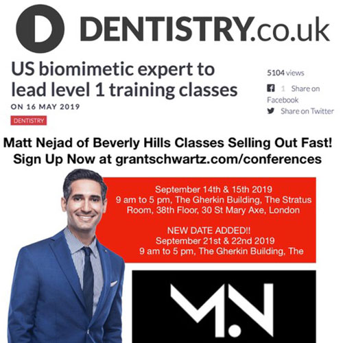 Screenshot of a flyer: US biomimetic expert to lead level 1 training classes