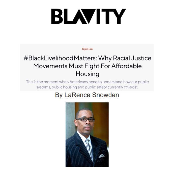LaRence Snowden in Blavity Magazine